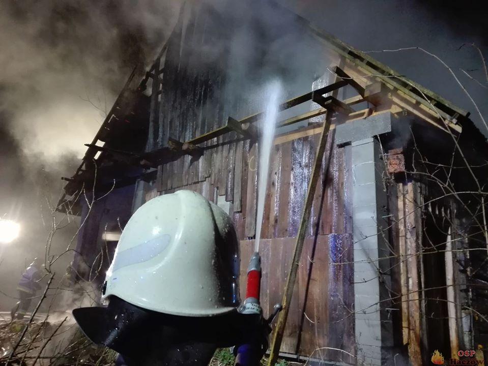 Z REGIONU. Pożar drewnianego pustostanu [FOTO] - Zdjęcie główne