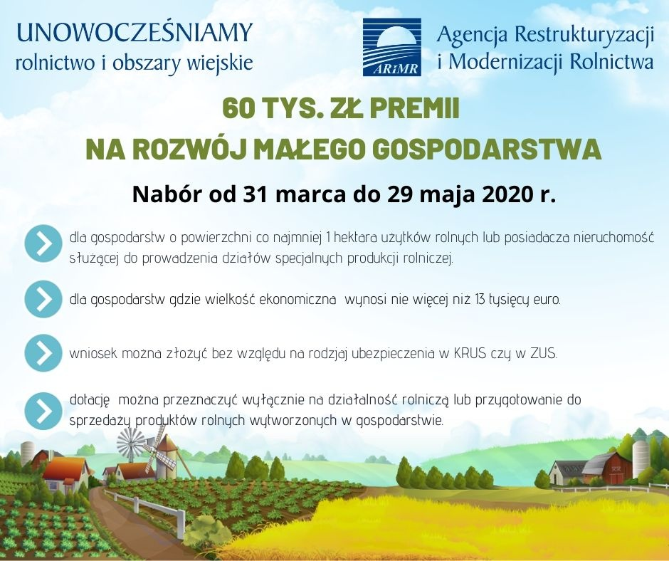 USTRZYKI DOLNE. 60 tys. zł premii na rozwój małego gospodarstwa - Zdjęcie główne