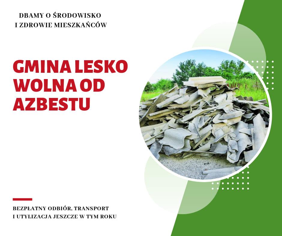 Gmina Lesko wolna od azbestu - Zdjęcie główne