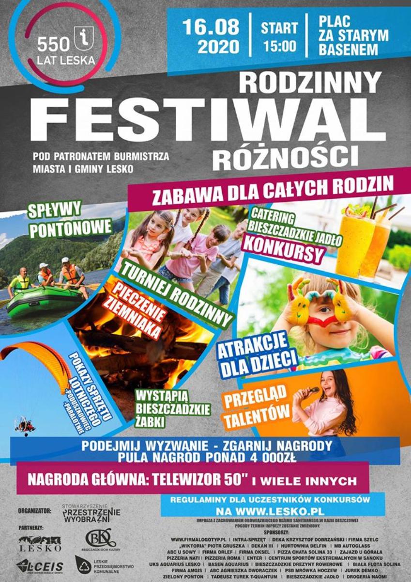Rodzinny Festiwal Różności w Lesku - Zdjęcie główne