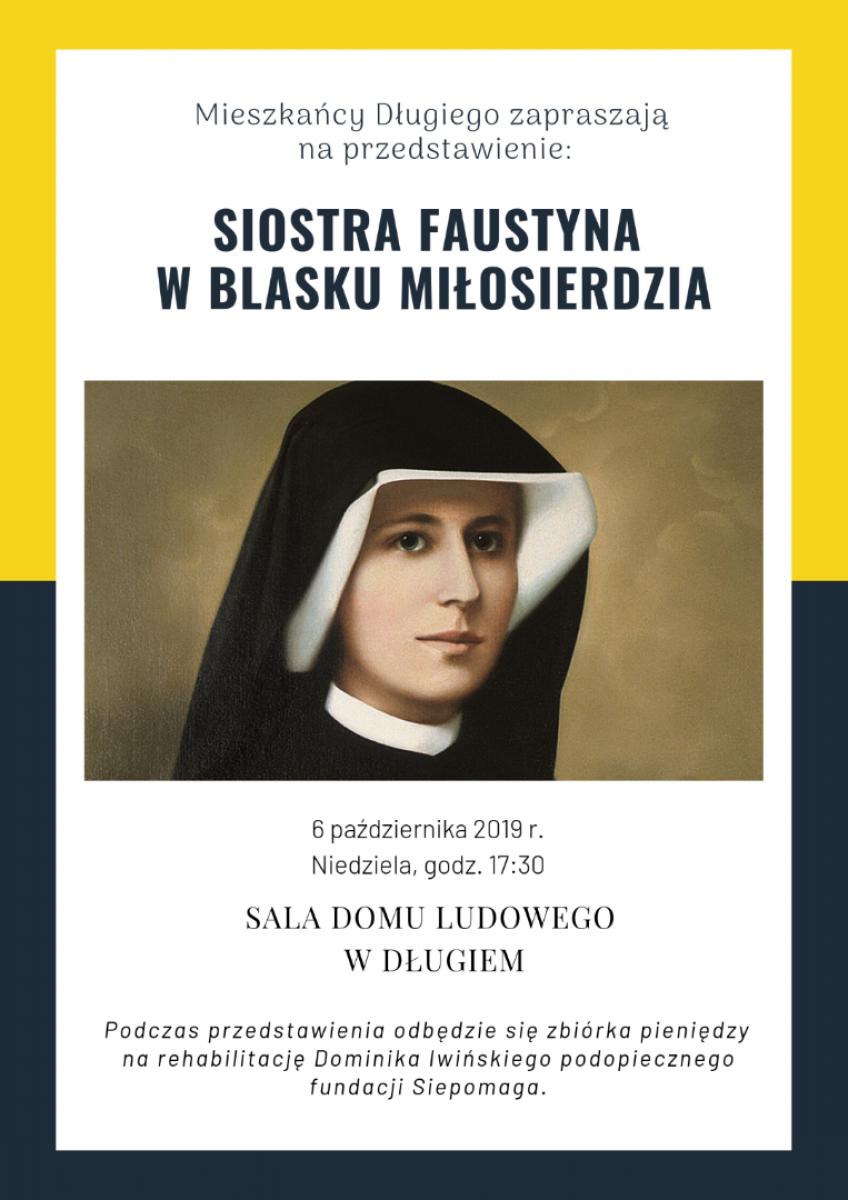 Przyjdź na przedstawienie o siostrze Faustynie i pomóż Dominikowi! - Zdjęcie główne