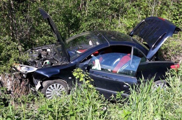 Straciła panowanie nad samochodem i uderzyła w drzewo - Zdjęcie główne