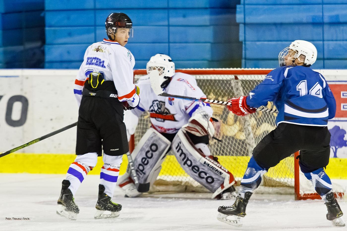 Rozpoczęcie sezonu hokejowego u Niedźwiadków. Mecz UKS Niedźwiadki -SMS Katowice [ZDJĘCIA] - Zdjęcie główne