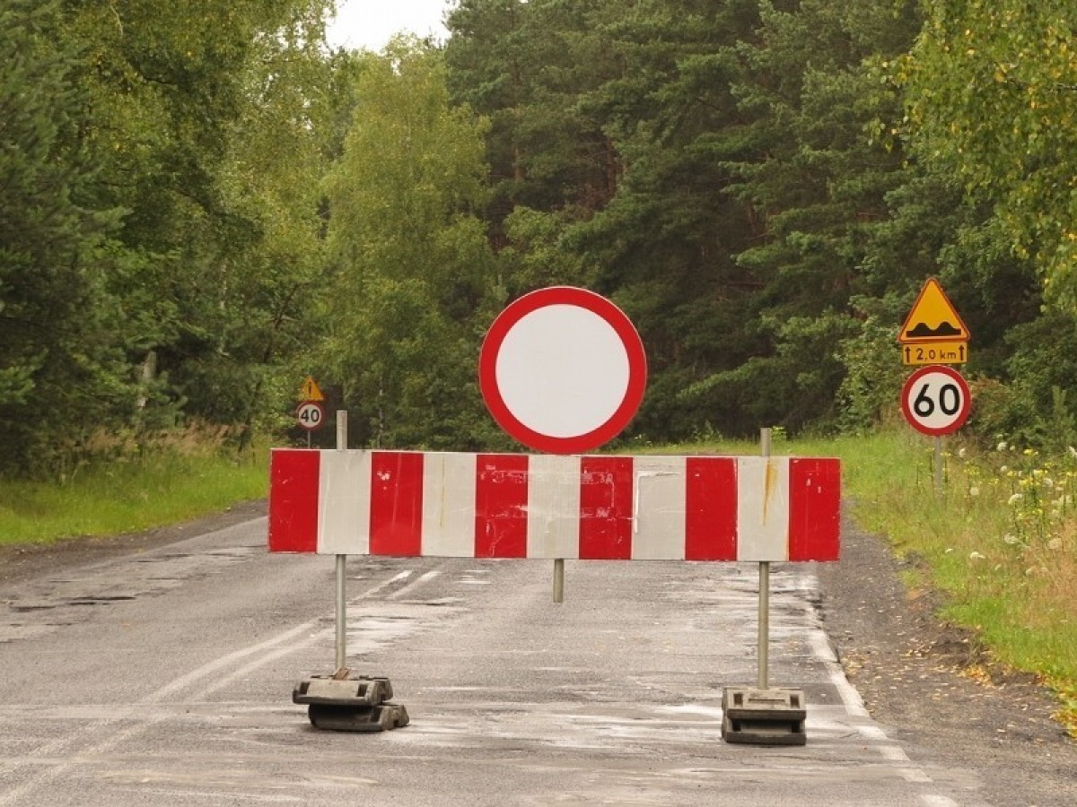 Zamknięcie drogi powiatowej Ropienka - Rozpucie  - Zdjęcie główne