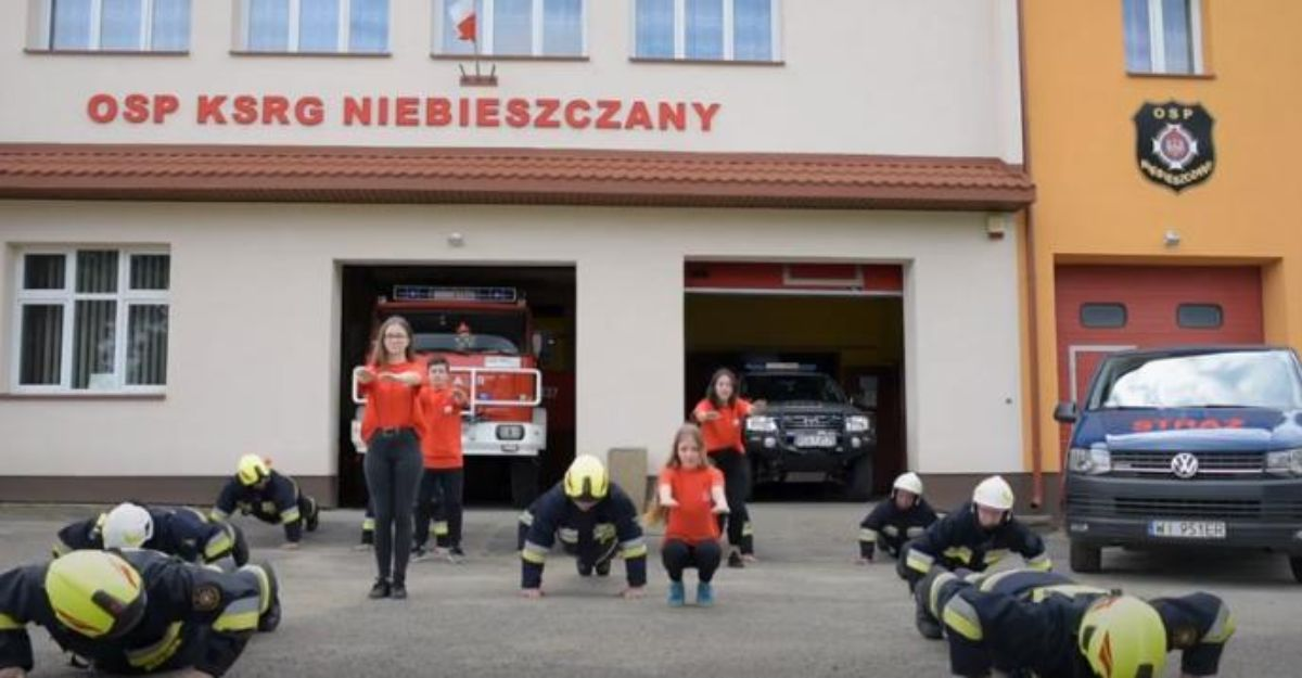 OSP Niebieszczany podjęli wyzwanie w #GaszynChallenge! [VIDEO] - Zdjęcie główne