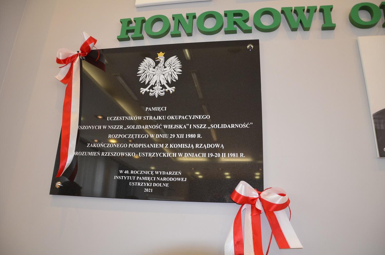 Odsłonięcie tablicy upamiętniającej podpisanie porozumień rzeszowsko-ustrzyckich - Zdjęcie główne
