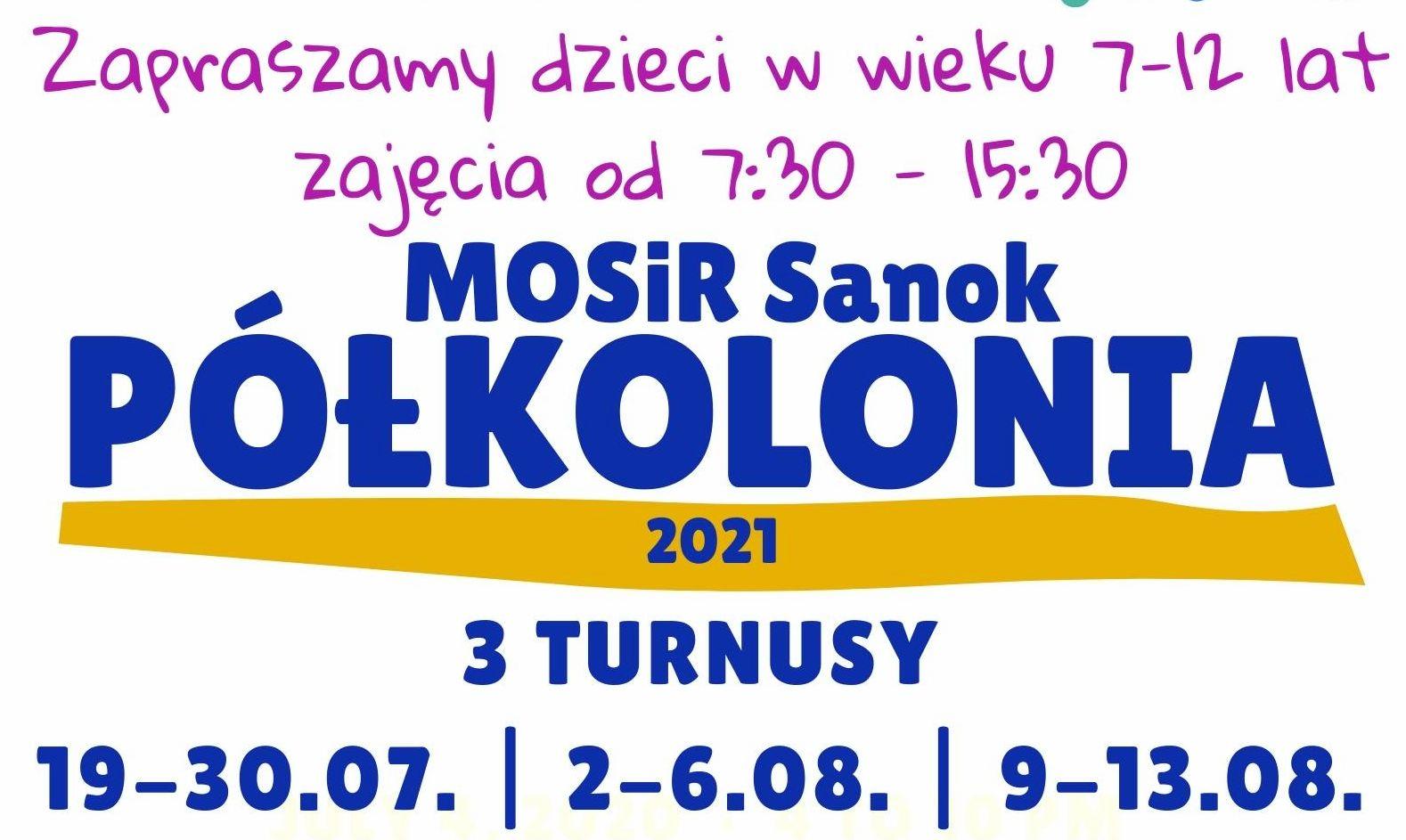 Zapisz dziecko na półkolonię w MOSiR Sanok - Zdjęcie główne