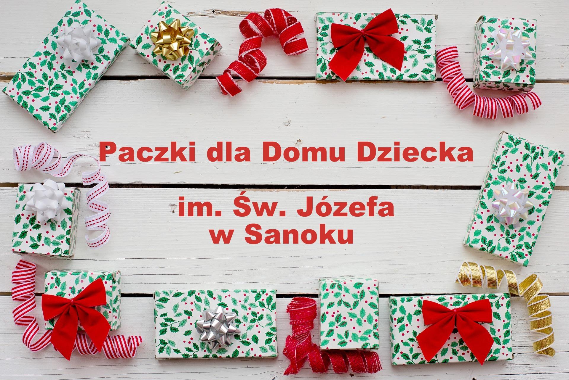 Paczka Świąteczna dla Domu Dziecka im. Św. Józefa w Sanoku - Zdjęcie główne