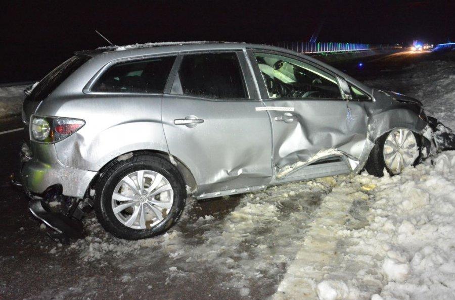 Podkarpacie: Wpadł w poślizg i rozbił auto. Wypadek na A4 - Zdjęcie główne
