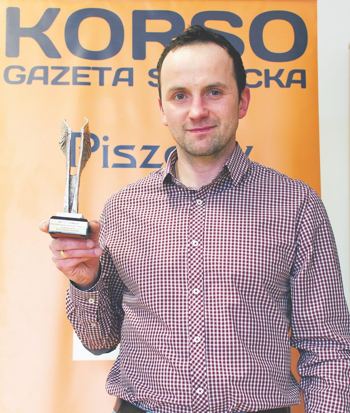 Maciej Mermer, zwycięzca w plebiscycie Najpopularniejszy Sportowiec Roku 2017 Korso Gazety Sanockiej - Zdjęcie główne