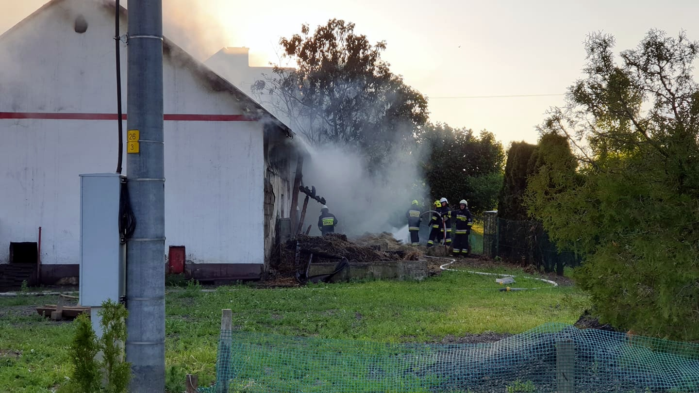 Pożar budynku gospodarczego w Sanoczku [ZDJĘCIA+WIDEO] - Zdjęcie główne