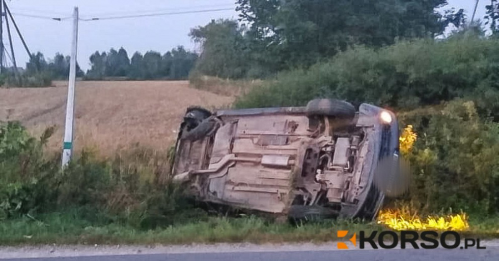PODKARPACIE: Pijany rozbił samochód - chciał uciec i przekupić świadków zdarzenia! - Zdjęcie główne