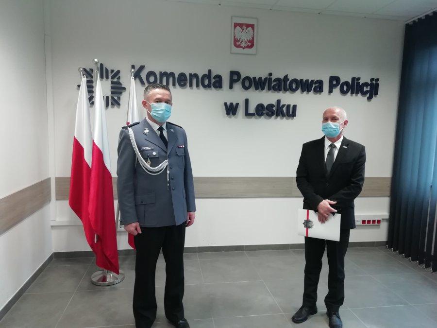 Pożegnanie komendanta leskiej policji Jacka Pączka [ZDJECIA] - Zdjęcie główne