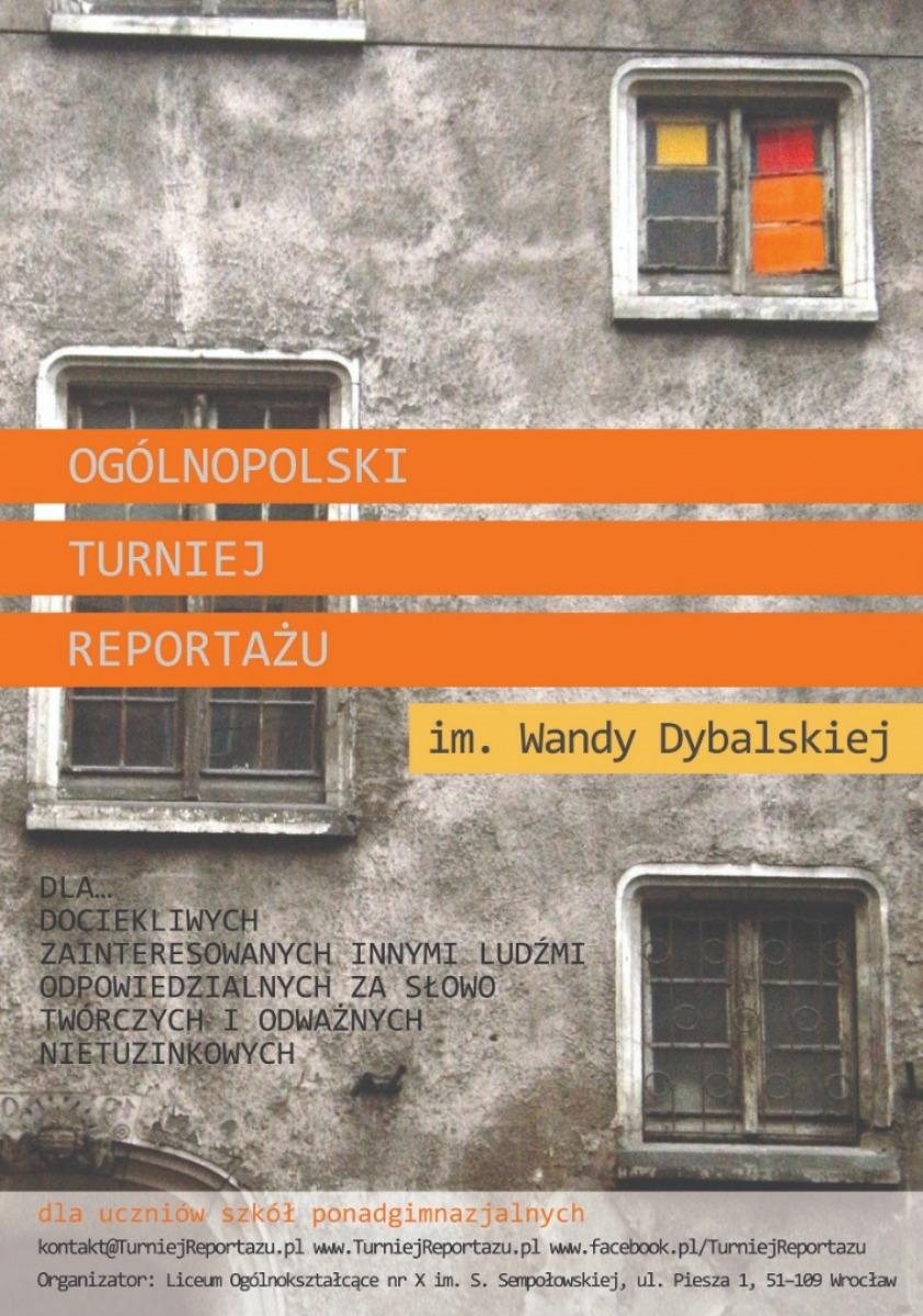XIX Ogólnopolski Turniej Reportażu im. Wandy Dybalskiej - Konkurs dla uczniów szkół średnich - Zdjęcie główne