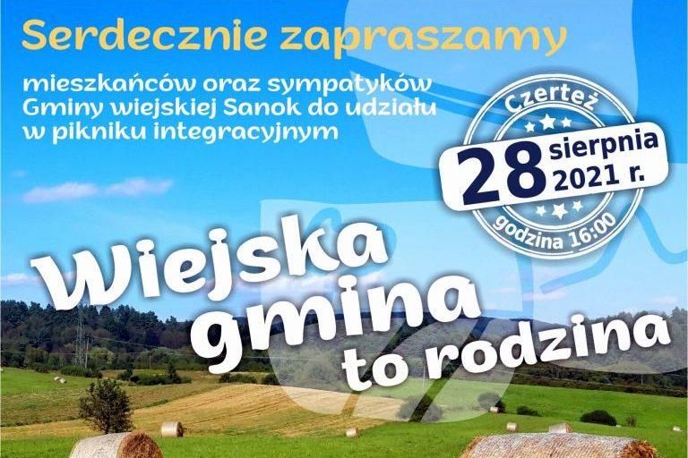 Piknik integracyjny dla mieszkańców i sympatyków wiejskiej Gminy Sanok! - Zdjęcie główne