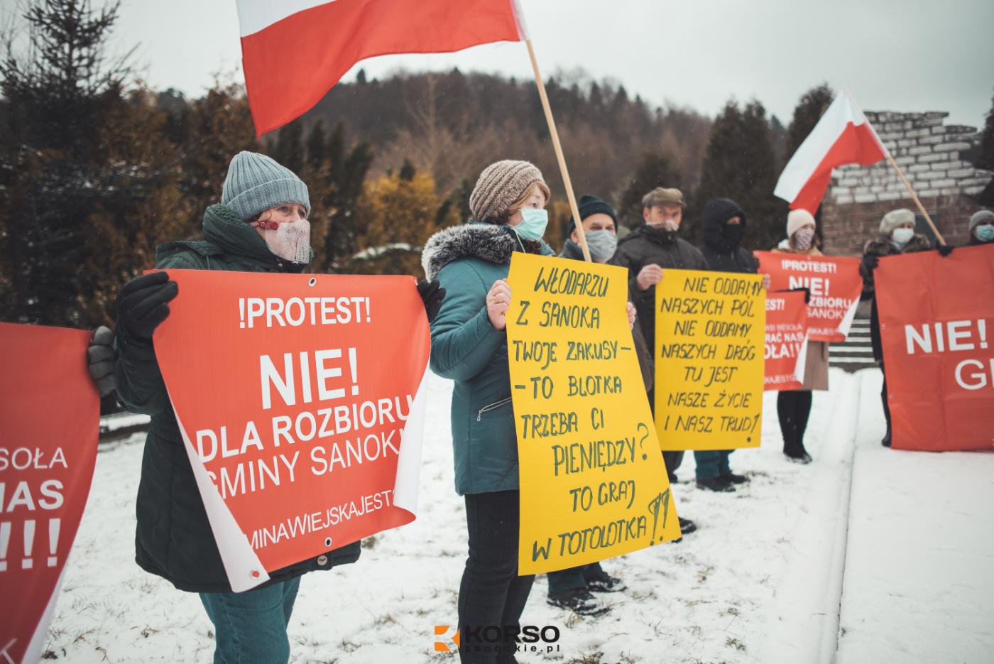 Nie chcemy do miasta - Nie oddamy Bykowiec i basta! [ZDJĘCIA+WIDEO] - Zdjęcie główne