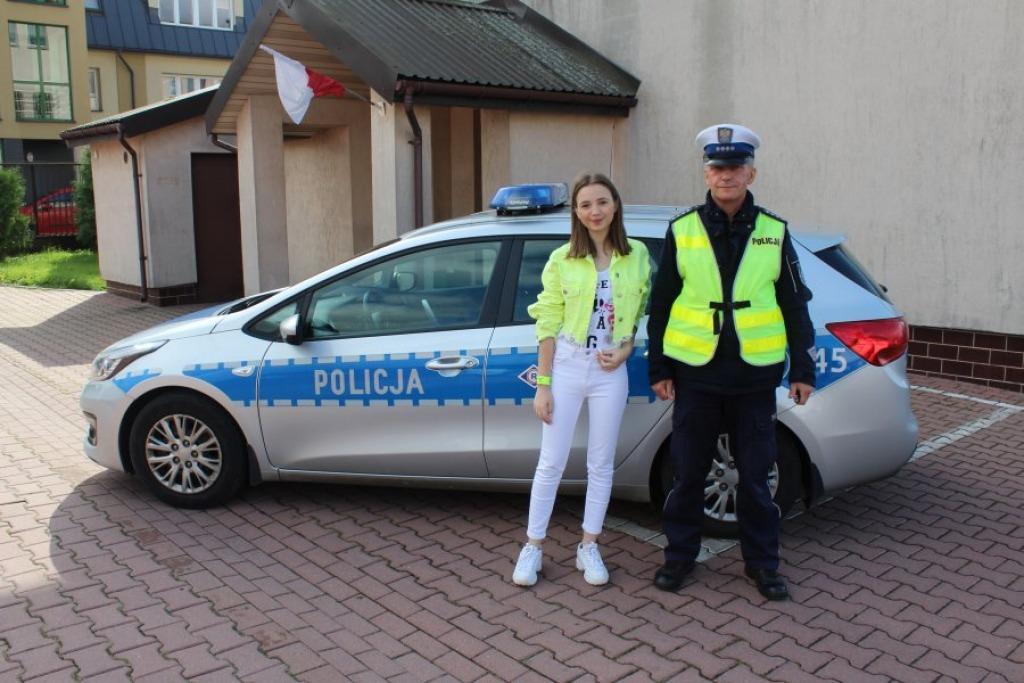 """""""Bezpieczna droga do szkoły"""" z Anią Dąbrowską [ZDJĘCIA]  - Zdjęcie główne"""