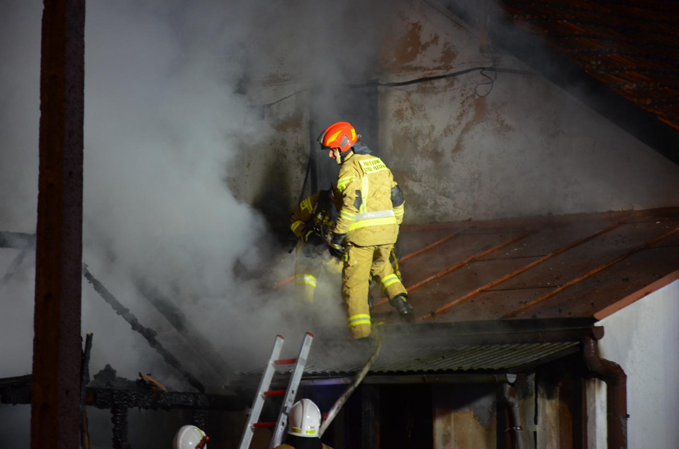 ZAGÓRZ: Pożar budynku gospodarczego [ZDJĘCIA+WIDEO] - Zdjęcie główne