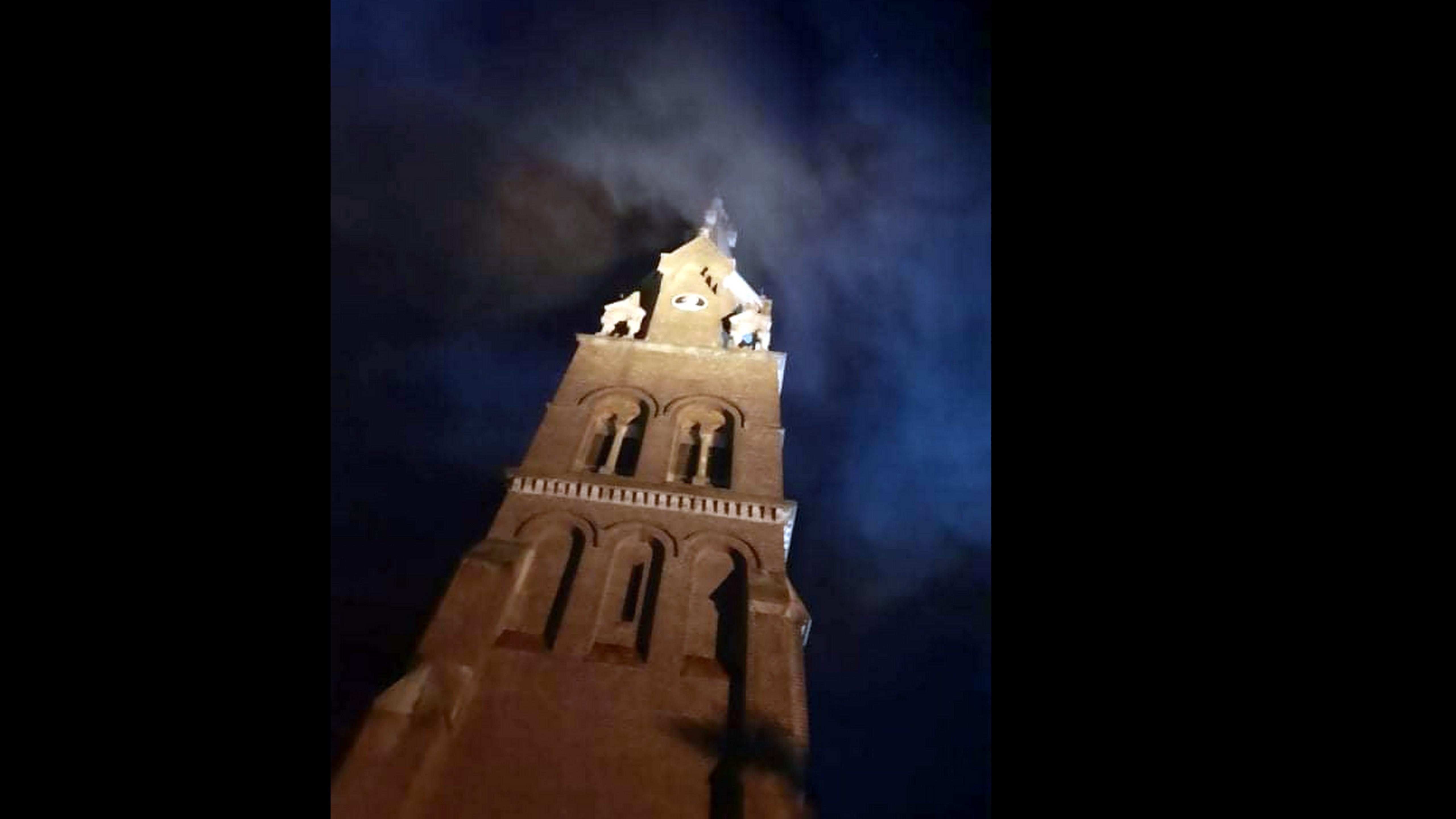 TERAZ! Płonie wieża kościoła w Jedliczu [AKTUALIZACJA] - Zdjęcie główne