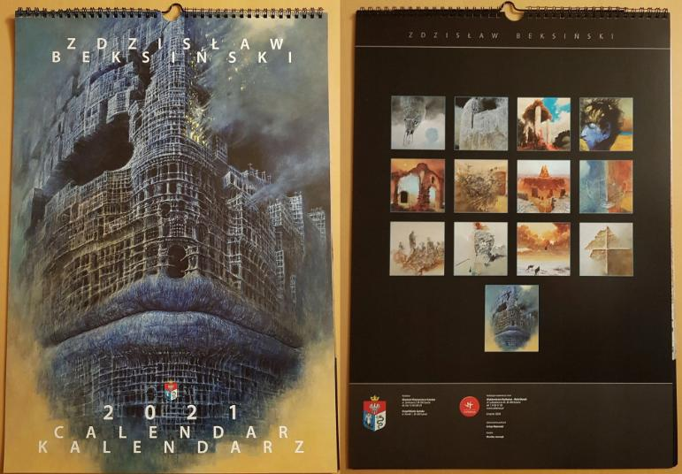 Kalendarz 2021 z obrazami Beksińskiego wystawiony na licytację WOŚP [ZDJĘCIA] - Zdjęcie główne