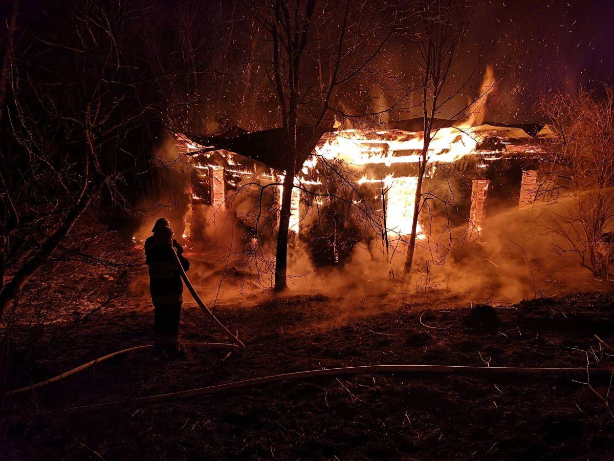 MRZYGŁÓD: Pożar pustostanu [ZDJĘCIA+VIDEO] - Zdjęcie główne