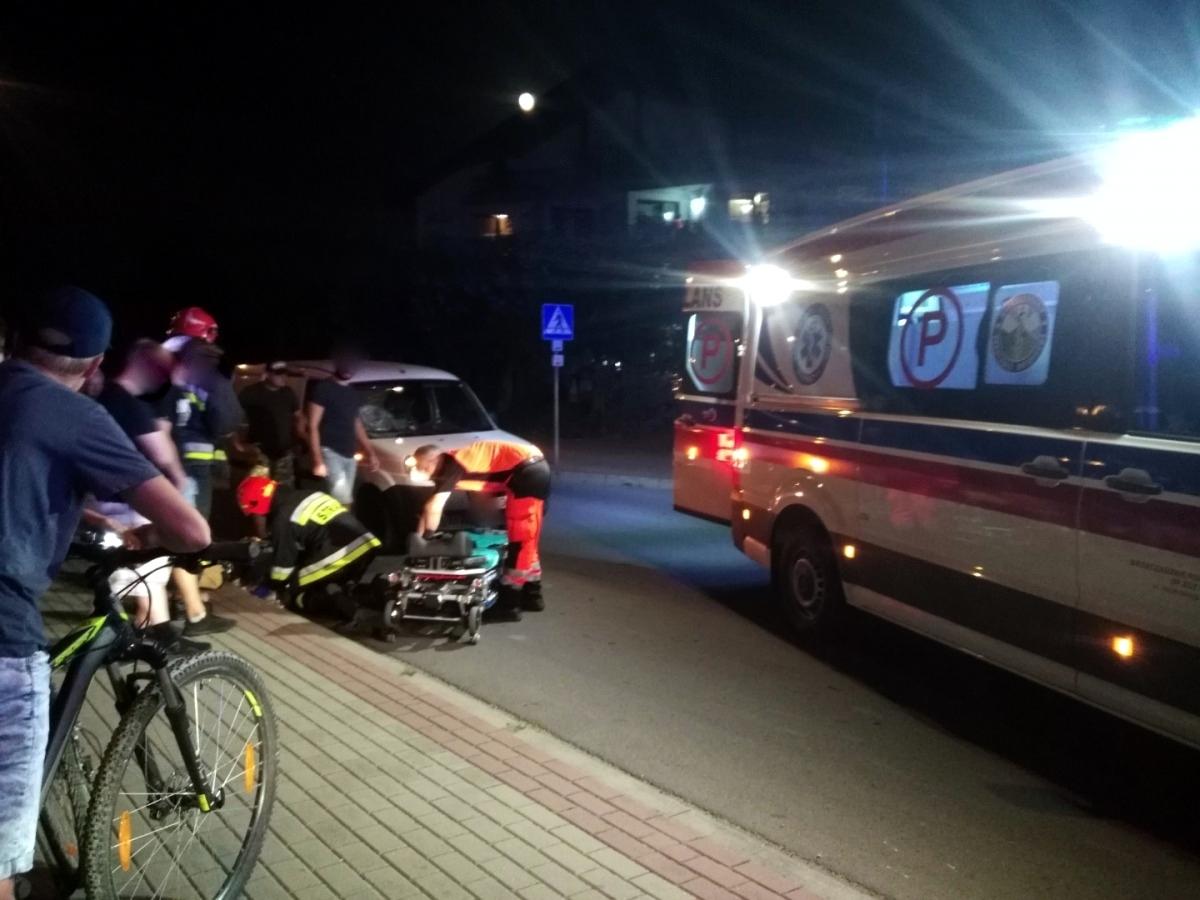 SANOK: Potrącenie pieszego na pasach na ul. Białogórskiej [VIDEO+ZDJĘCIA] - Zdjęcie główne