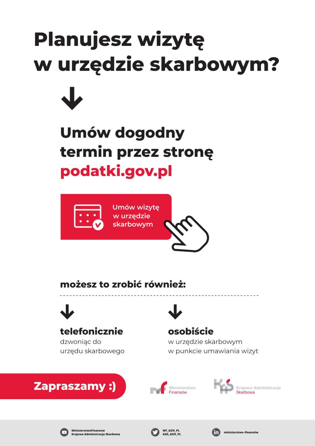 """Nowa usługa KAS - """"Umów wizytę w urzędzie skarbowym""""  - Zdjęcie główne"""