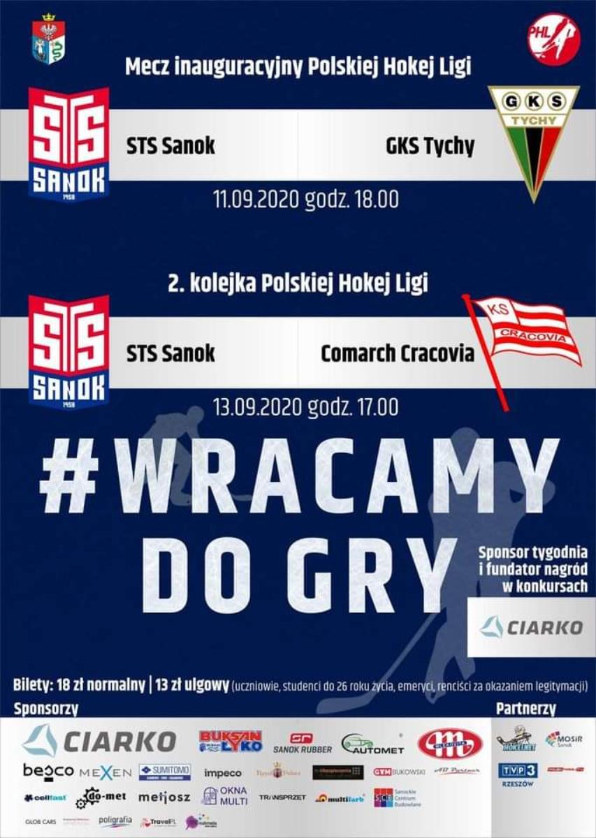 Dwukrotni mistrzowie Polski, STS Sanok wracają do gry w PHL - Zdjęcie główne