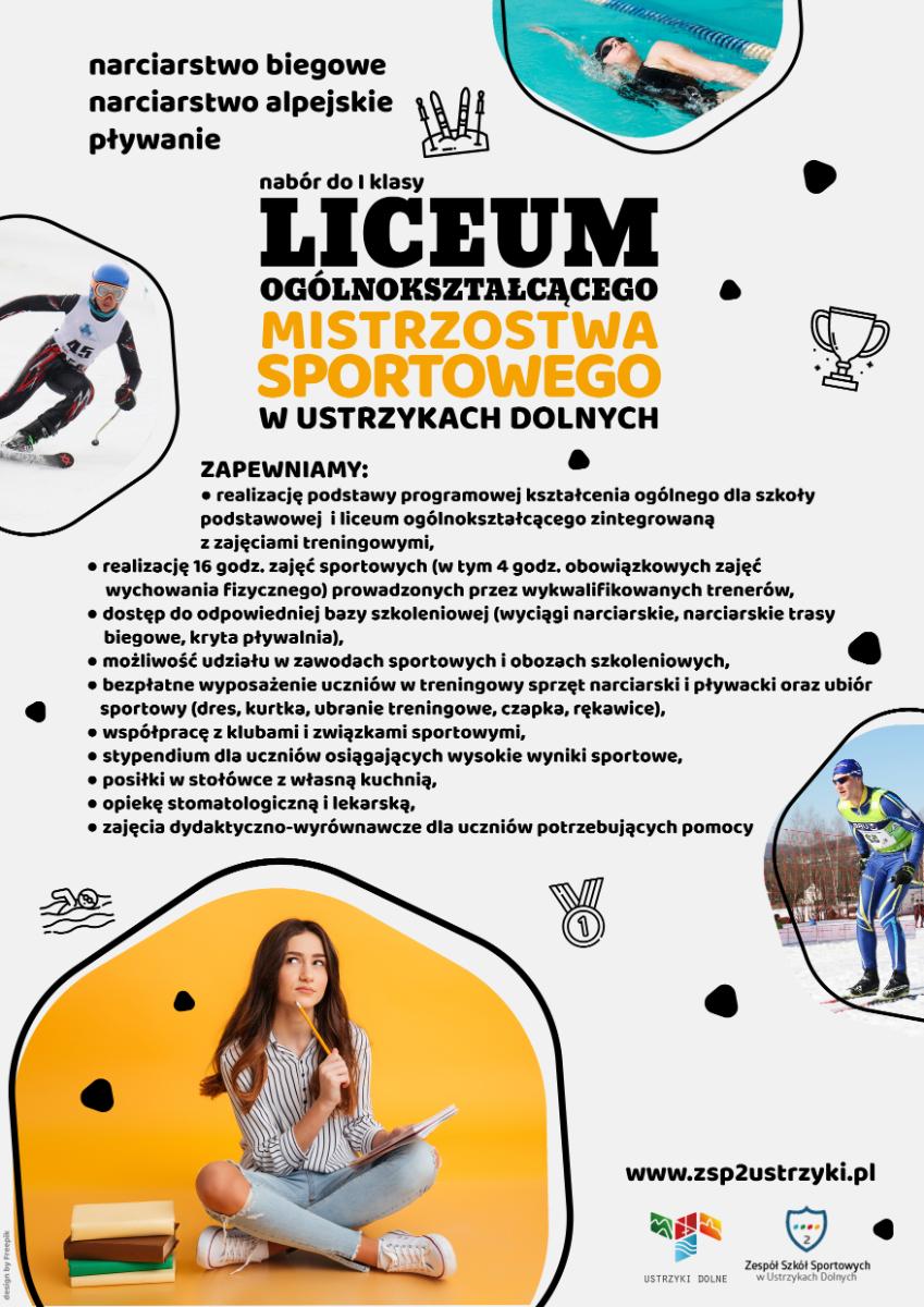 USTRZYKI DOLNE: Rekrutacja do I klasy Liceum Mistrzostwa Sportowego w Ustrzykach Dolnych - Zdjęcie główne