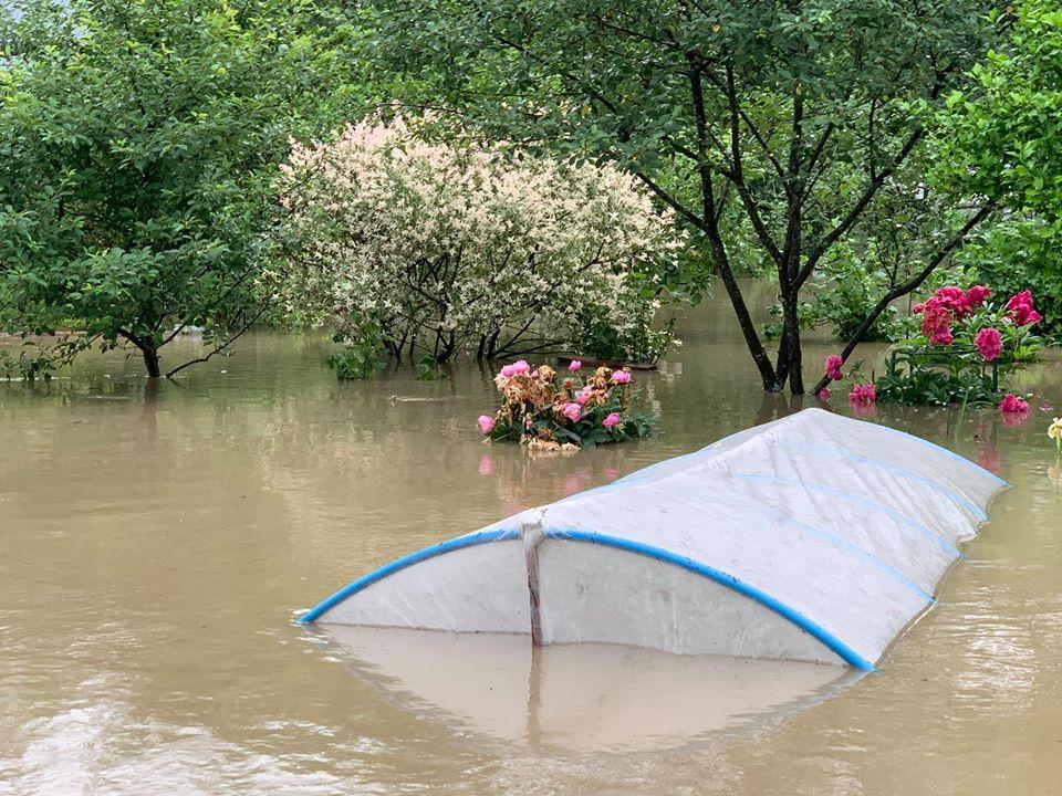 Powódź w Sanoku. Tylko u nas zdjęcia zatopionych ogródków działkowych! [FOTO] - Zdjęcie główne
