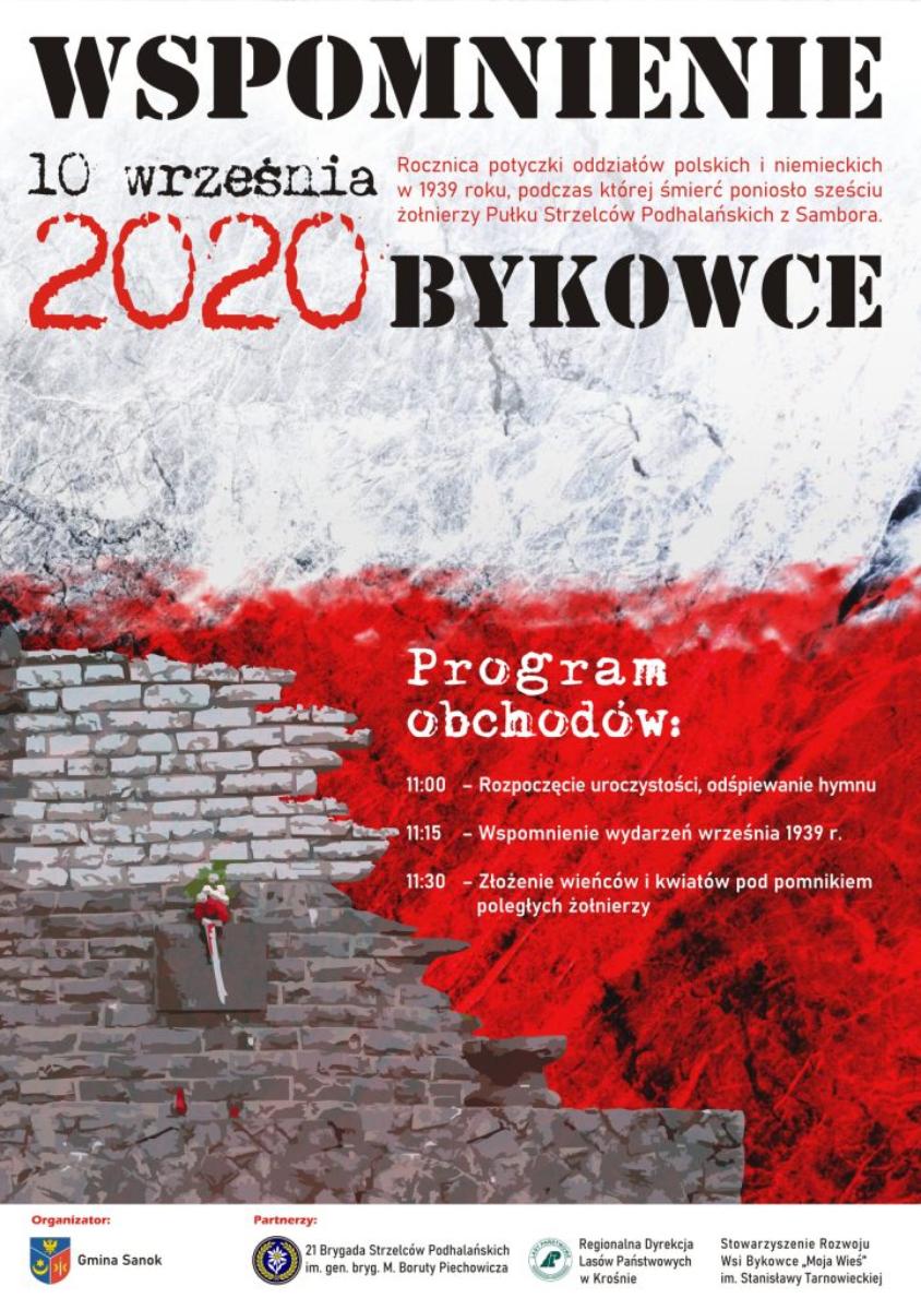 81. rocznica walk polsko-niemieckich w Bykowcach 10 września 1939 r. - Zdjęcie główne