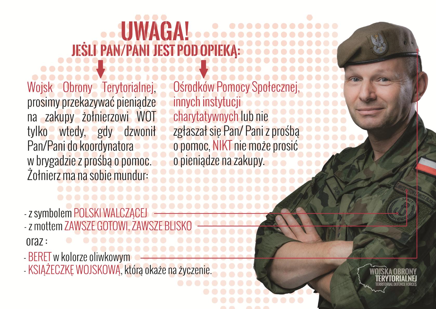 """Komunikat: Oszuści próbowali wyłudzić pieniądze """"na żołnierza WOT"""" - Zdjęcie główne"""