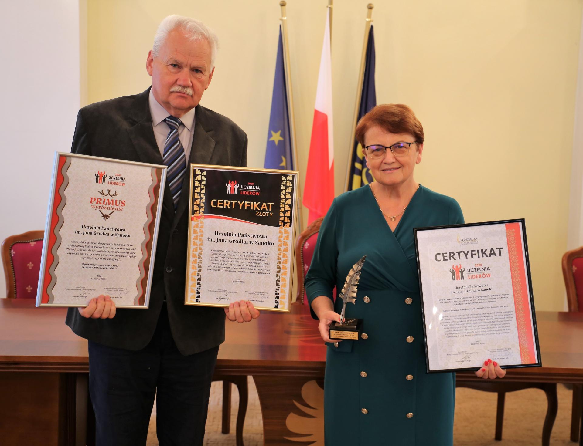 """Uczelnia Państwowa w Sanoku po raz szósty """"Uczelnią Liderów""""  - Zdjęcie główne"""