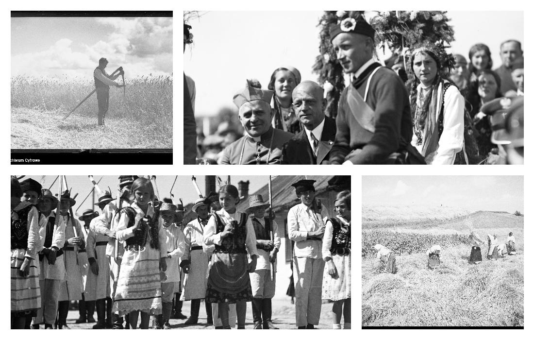 Żniwa oraz dożynki sprzed blisko 100 lat. Zdjęcia z naszego regionu - Zdjęcie główne
