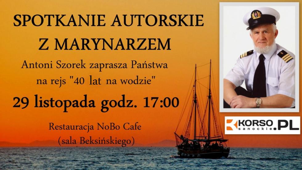 Zapraszamy na spotkanie autorskie z marynarzem Antonim Szorkiem - Zdjęcie główne