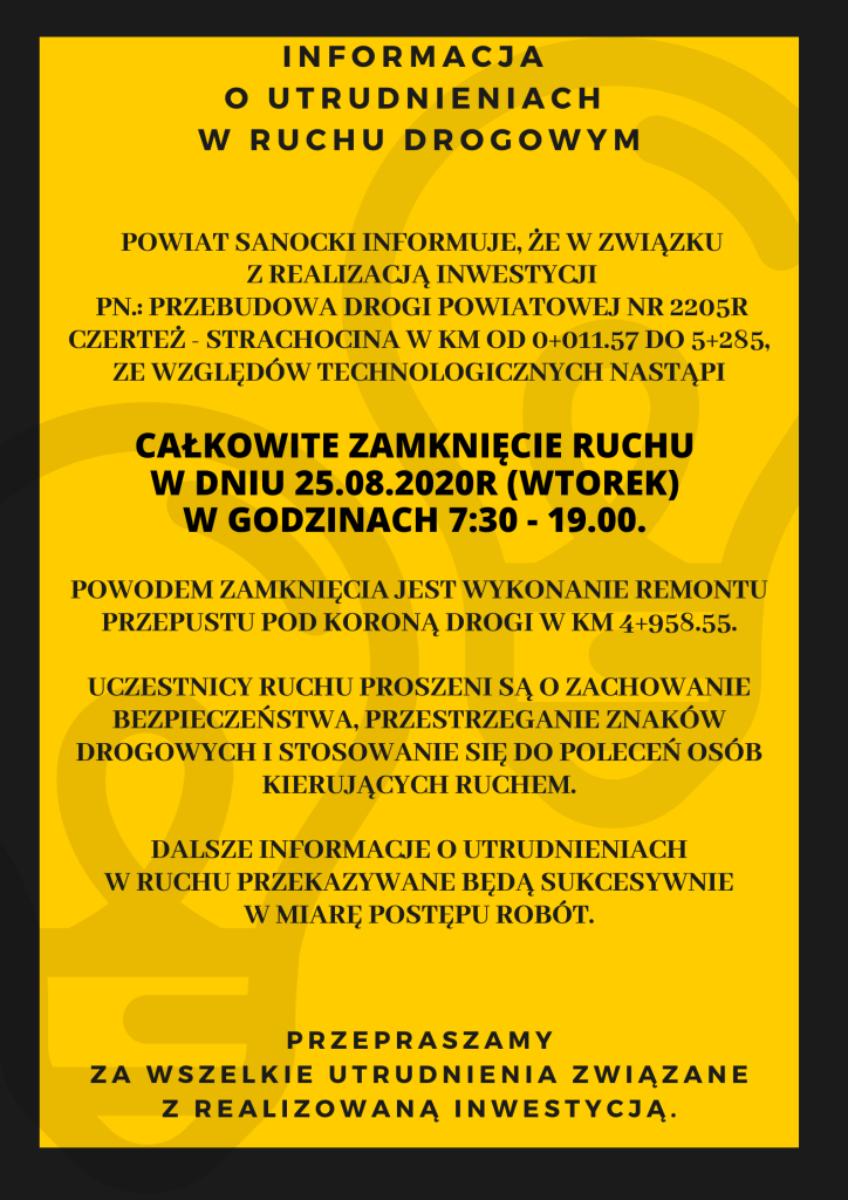 Powiat Sanocki: Utrudnienia w ruchu drogowym  - Zdjęcie główne