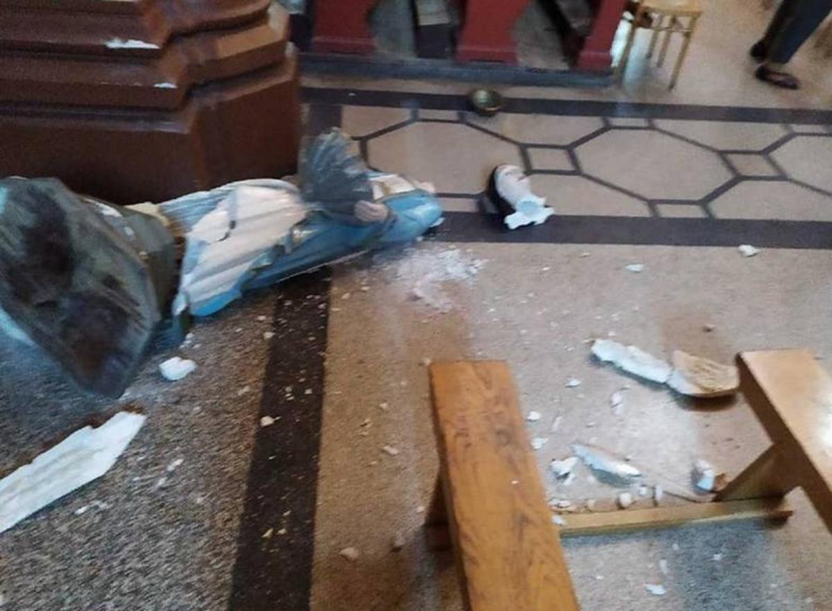 Przemyśl: Zdewastował figurę w kościele w czasie mszy i uciekł - Zdjęcie główne