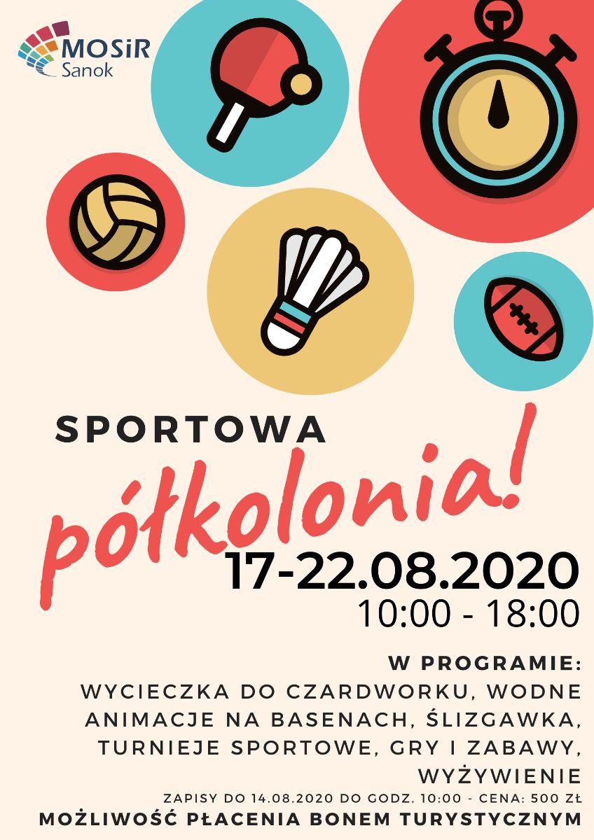 Zapraszamy wszystkie dzieci do udziału w sportowej półkolonii w MOSiR Sanok! - Zdjęcie główne
