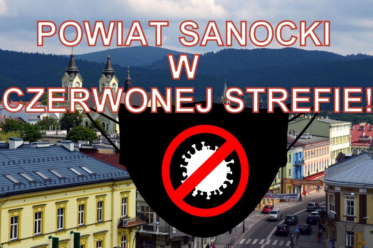 KORONAWIRUS: Powiat leski i sanocki w czerwonej strefie! - Zdjęcie główne
