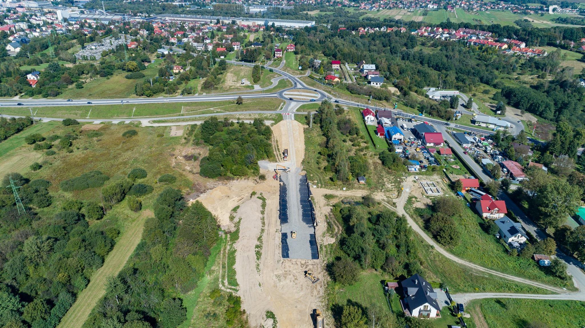 Budowa łącznika między obwodnicą a ulicą Łany [ZDJĘCIA] - Zdjęcie główne