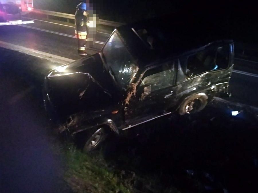 Jasienica Rosielna. Kierujący Toyotą 18-latek wypadł z drogi [FOTO] - Zdjęcie główne
