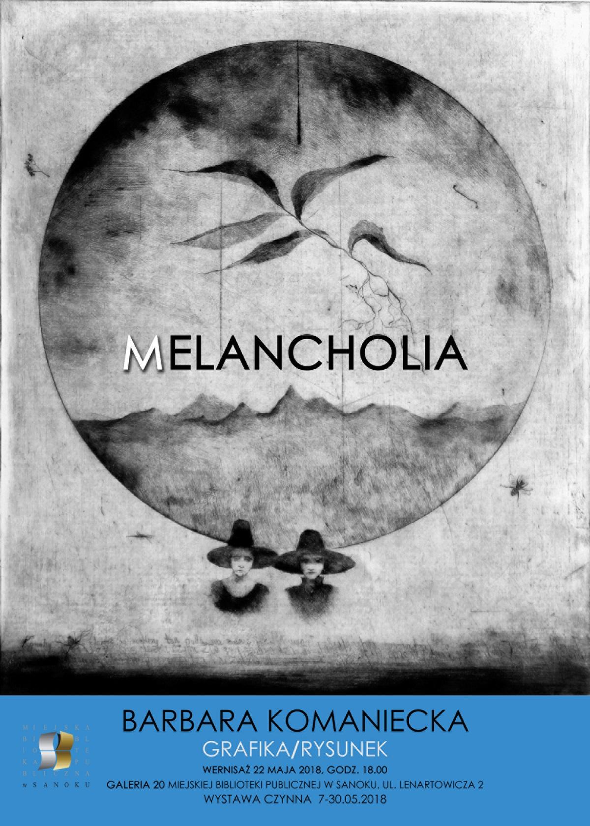 """Miejska Biblioteka Publiczna im. Grzegorza z Sanoka zaprasza na wernisaż prac Barbary Komanieckiej """"Melancholia"""" - Zdjęcie główne"""