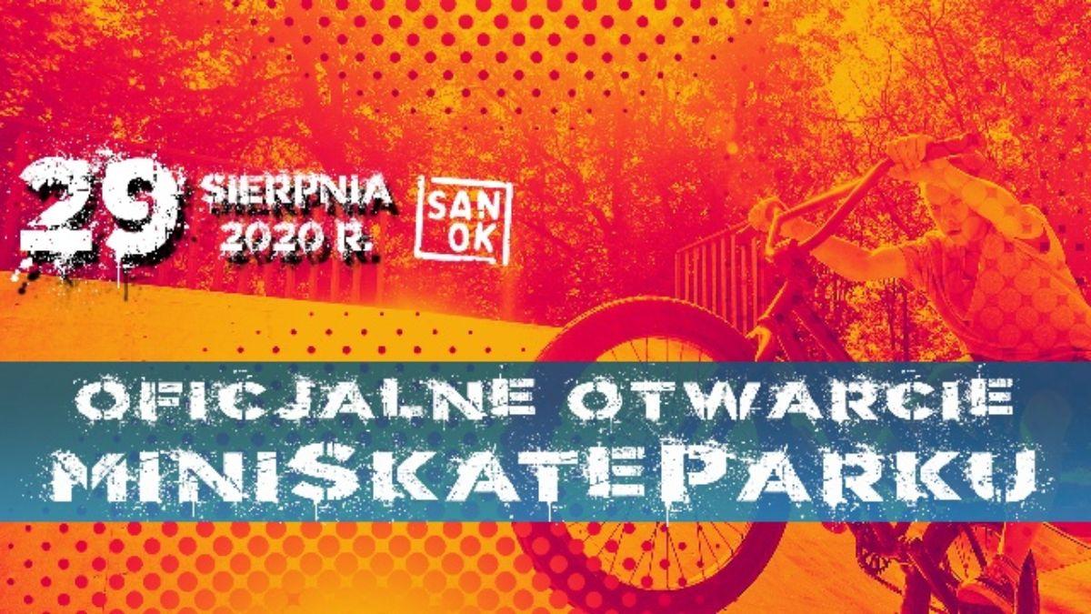Zapraszamy na oficjalne otwarcie Miniskateparku na zakończenie wakacji  - Zdjęcie główne