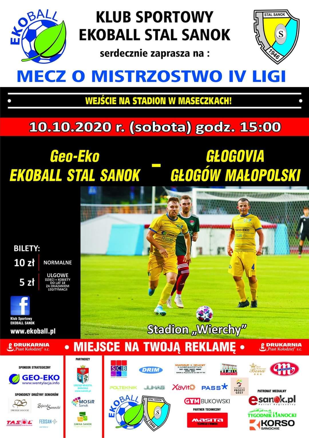Ekoball Stal Sanok powalczy o komplet punktów z Głogovią w IV lidze - Zdjęcie główne