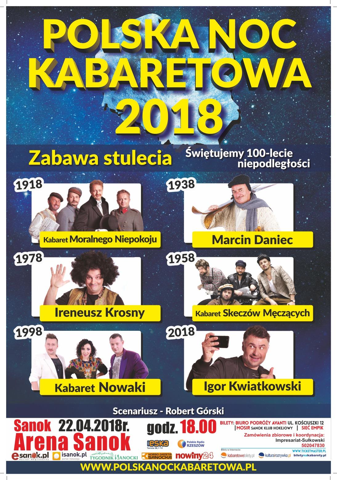 Rozdajemy wejściówki na Polską Noc Kabaretową - Zdjęcie główne