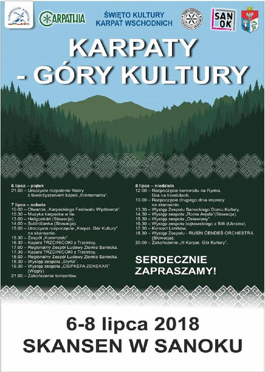 Już dzisiaj Karpaty - Góry Kultury w sanockim skansenie - Zdjęcie główne