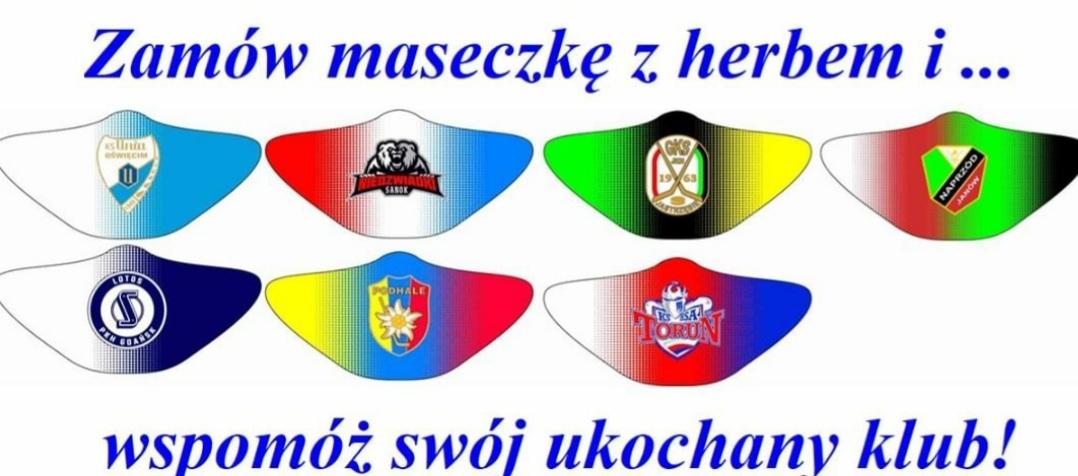 """Maseczki portalu hokej.net także z logo sanockich """"Niedźwiadków"""" - Zdjęcie główne"""