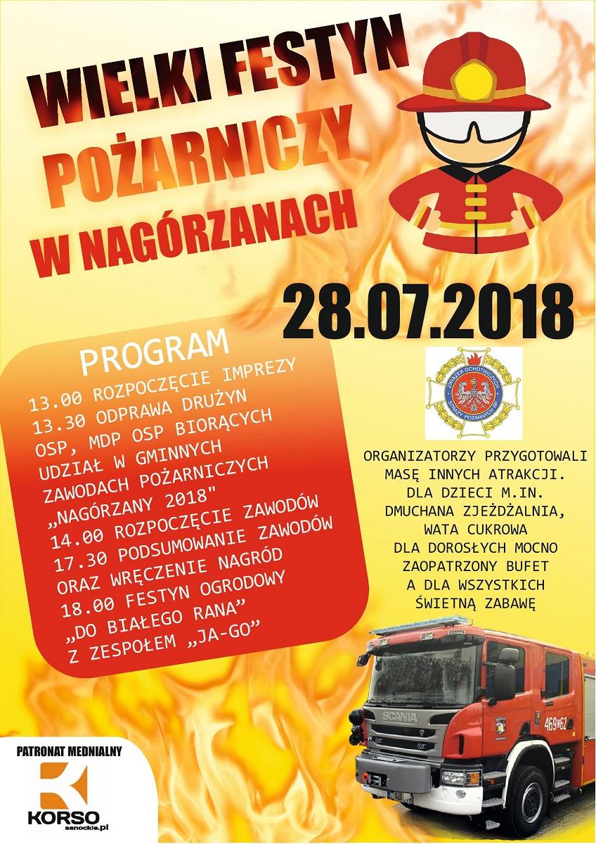 NASZ PATRONAT: Wielki Festyn Pożarniczy w Nagórzanach - Zdjęcie główne