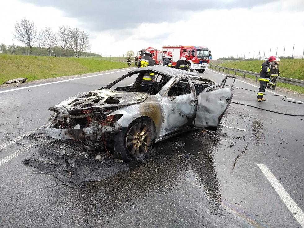 Z PODKARPACIA. Samochód stanął w ogniu. Jedna osoba ranna [FOTO] - Zdjęcie główne