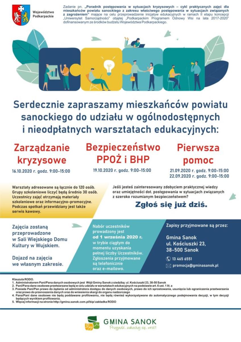 Gmina Sanok. Uniwersytet Samorządności zaprasza na bezpłatne szkolenia! - Zdjęcie główne